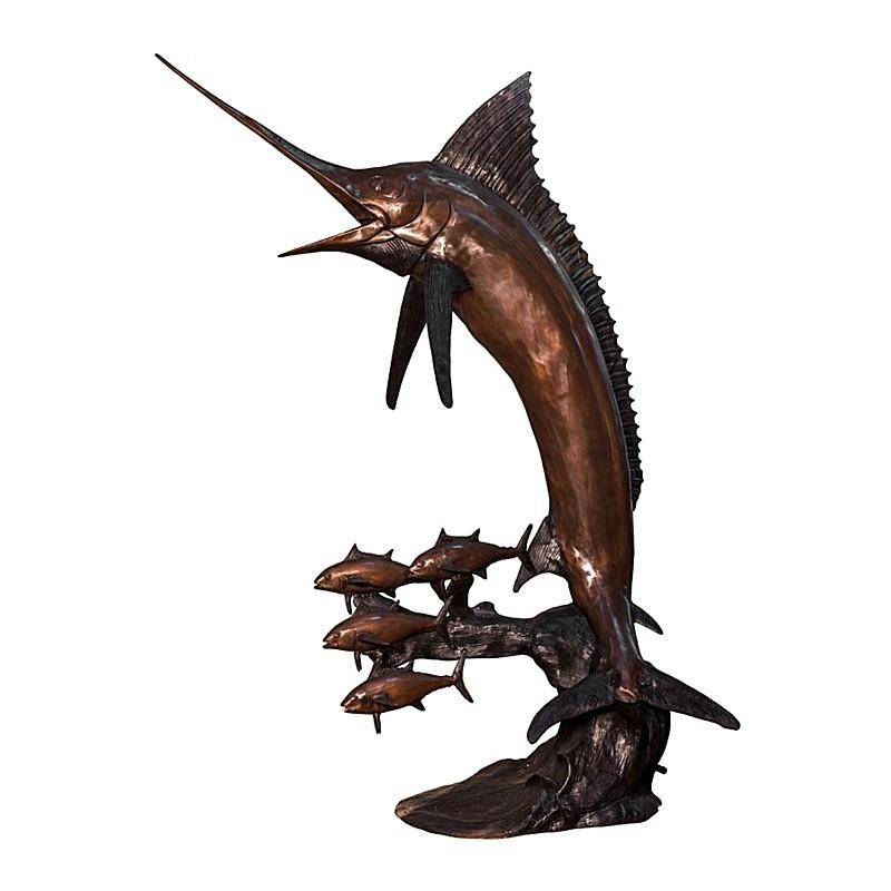 Bronze Swordfish Fountain Sculpture