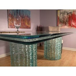 Clear Crackle Glass - Custom Sizes and Shapes
