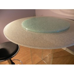 Extra Clear Crackle Glass - Custom Sizes and Shapes