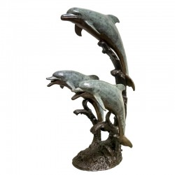 Bronze Three Dolphin...