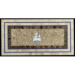 Sail Away Mosaic Table Top - Sail Boat