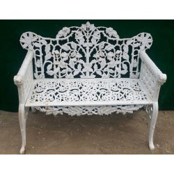 The Iron Bench with Classical Design