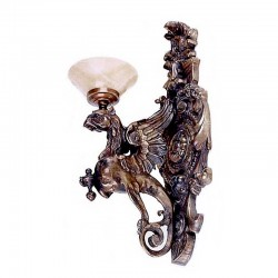 Bronze Eagle Wall Sconce Sculpture