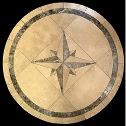 Compass Emperador Mosaic Table Top