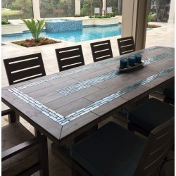 River Mosaic Table Top