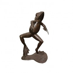 Bronze Dancing Frog Fountain Sculpture
