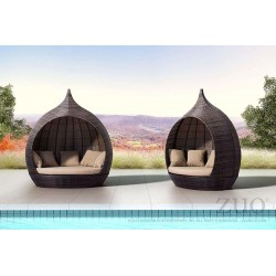 Martinique Outside Day Bed Brown - Lifestyle