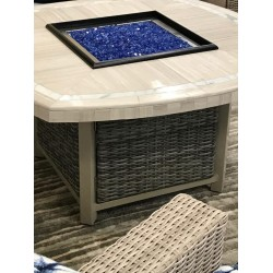 Square Round Mosaic Fire Pit