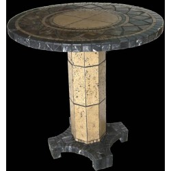 Agea Mosaic Dining Table Base - Shown with Optional Mosaic Table Top