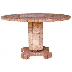 Agea Stone Tile Mosaic Chat Table Base