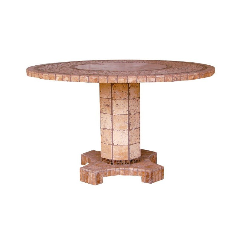 Agea Stone Tile Mosaic Counter Height Table Base