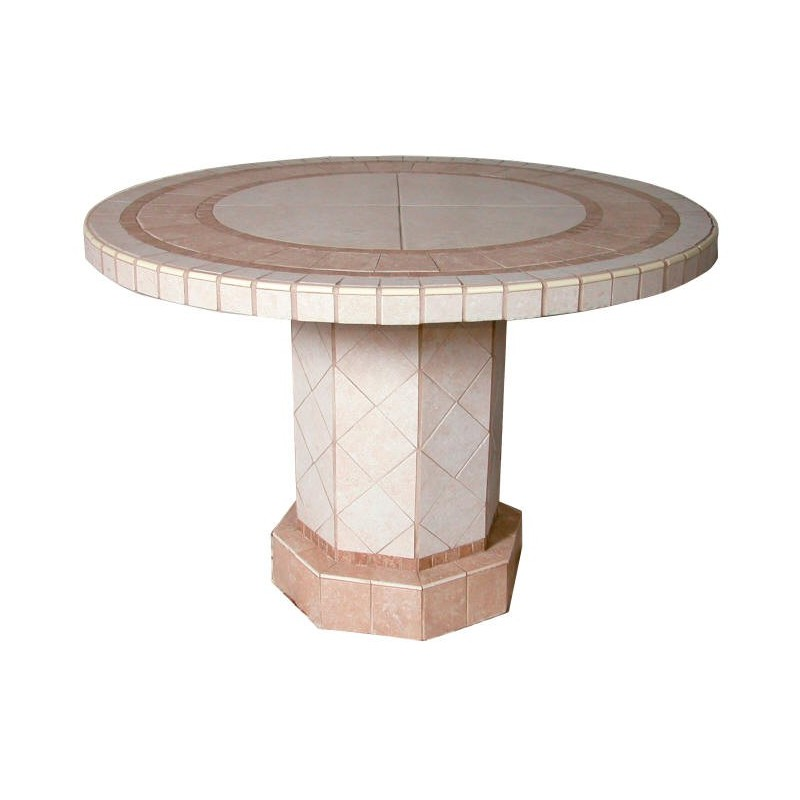 Roma Mosaic Stone Tile Chat Table Base