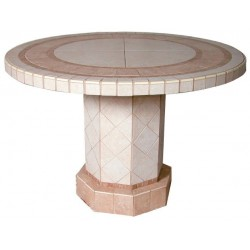 Roma Mosaic Stone Tile Coffee Table Base