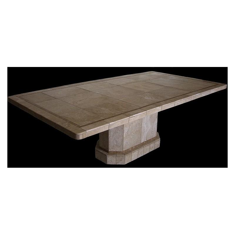 Roma Oval Mosaic Stone Tile Dining Table Base