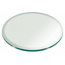 "48"" Round 1/2"" Thick Extra Clear Glass Top"