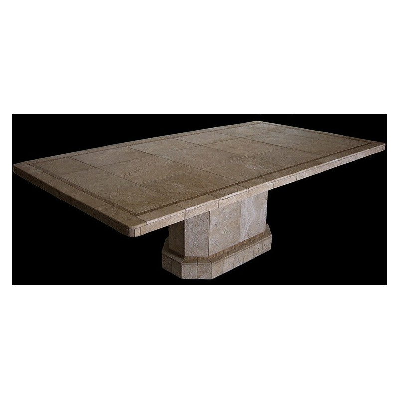 Roma Oval Mosaic Stone Tile Counter Height Table Base