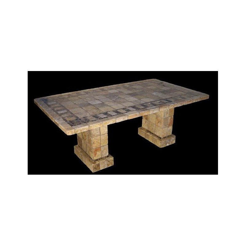 Pompeii Stone Tile Counter Height Table Base Set