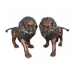Bronze Standing Lions...