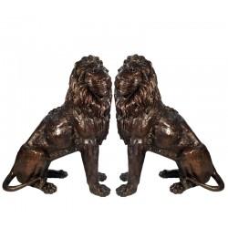 Bronze Sitting Lions...
