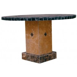 Troy Square Mosaic Stone Tile coffee Table Base