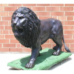Bronze Standing Lion Sculpture