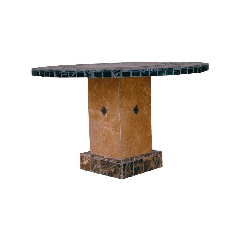 Troy Square Mosaic Stone Tile Counter Height Table Base