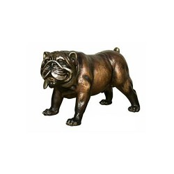 Bronze Table Top Bronze Bulldog Sculpture