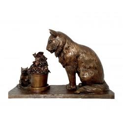 Bronze Table Top Cat &...