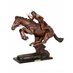 Bronze Table Top Frederick Remington Cheyenne Sculpture