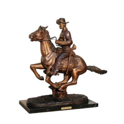 Bronze Table Top Frederick Remington Trooper of the Plain Sculpture