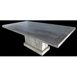 Troy Rectangle Mosaic Stone Tile Base Height Table Base