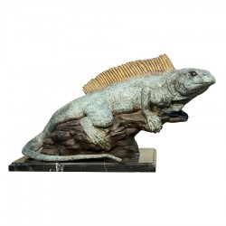 Bronze Table Top Iguana Sculpture