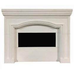 Modern White Marble Fire Place Mantle Surround