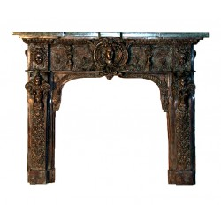 Bronze Fire Place Surround Marble Mantle