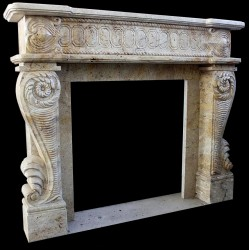 Marble Egyptian Fireplace Mantle Surround
