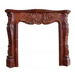 Marble Mantle Elegant Red Surround