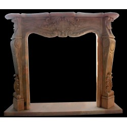 Marble Garland Fireplace...