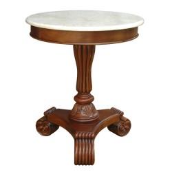 Bella Marble Top Pedestal, Side, Entryway Table