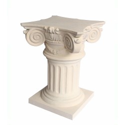 Roman Column Limestone Dining Table Base