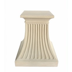 Fluted Limestone Dining Table Base