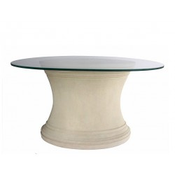 Oval Limestone Dining Table...