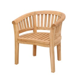 Teak Curve Dining Armchair Extra Thick