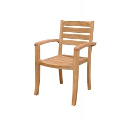 Teak Catalina Stacking Armchair (sold per set of four)