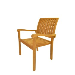 Teak Aspen Stacking Dinning Armchair (sold per set of four)
