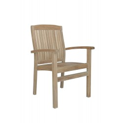 Teak Sahara Stacking Dining Armchair (sold per set of four)
