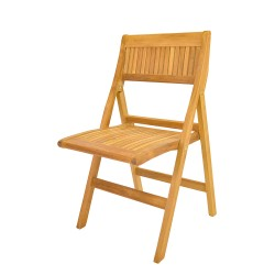 Teak Windsor Folding Chair (sell & priced per 2 chairs only)