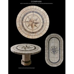 Compass Mosaic Stone Tile Table Top