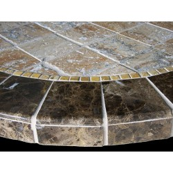 Barcelona Stone Tile Mosaic Table Top - Side View