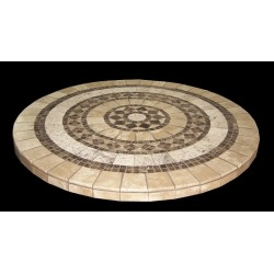 Canyon Mosaic Table Top - Side View
