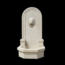 Marble Lion Head Wall Fountain